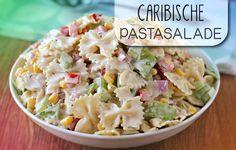 Een pastasalade met de smaken van de Cariben: krab, mango en madame Jeanette…