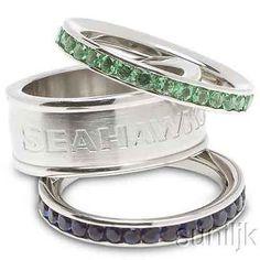 Seattle Seahawks Stackable Rings Stainless Steel