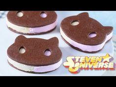 COOKIE CAT ICE CREAM SANDWICHES - STEVEN UNIVERSE - NERDY NUMMIES - YouTube