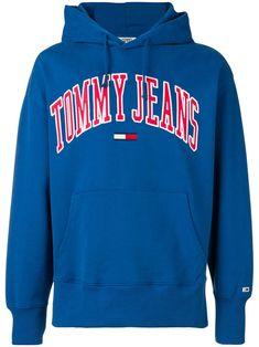 dac8fbfa TOMMY JEANS TOMMY JEANS LOGO HOODED SWEATSHIRT - BLUE. #tommyjeans #cloth