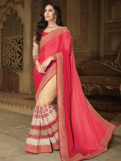 Eye-catching outfit will add a regal touch to your personality.  Item Code: SDH10124 http://www.bharatplaza.com/new-arrivals/sarees.html