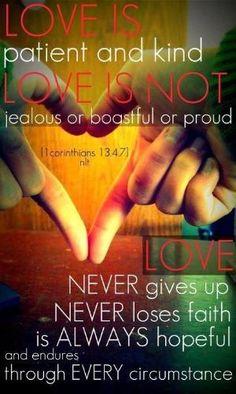 1 Corinthians 13:4-7 by elsie