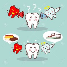 48628978-cartoon-teeth-think-with-angel-and-devil-great-for-health-dental--Stock-Photo.jpg (1300×1300)