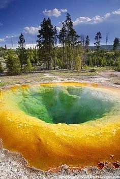 Yellowstone National Park, Wyoming - I would love to go to Yellowstone on a seasonal basis.