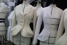 Tailoring studio for Christian Dior. Staff of 20 people, led by Monique. (Cafe Mode. LE 14 OCTOBRE 2011| PAR GÉRALDINE DORMOY)