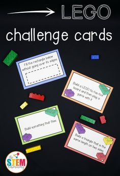 Here is a fun FREE Lego Challenge printable STEM activity. This giant collection of LEGO challenge cards is a simple prep, fun wa FREE Lego Challenge Printable STEM Activities Steam Activities, Science Activities, Science Experiments, Family Therapy Activities, School Age Activities, Early Finishers Activities, Enrichment Activities, Science Books, Summer Activities