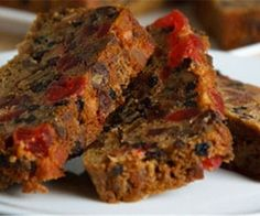 Oven baked fruit cake.Very old recipe.Classic English cake baked in oven.