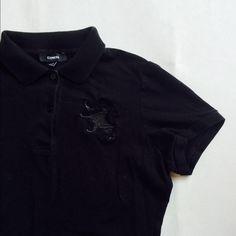 Black Poloshirt Express Medium Sz medium. In EUC Express Tops