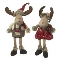 Heaven Sends Boy and Girl Moose Plush Christmas Decorations Christmas Moose, Nordic Christmas, Felt Christmas Ornaments, Christmas Sewing, Christmas Crafts, Christmas Decorations, Moose Crafts, Hobbies For Adults, Heaven Sent