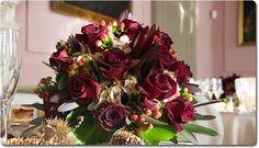 burgundy floral bouquets | Flower Arrangements by Monika Andenmatten floral designer – La ...