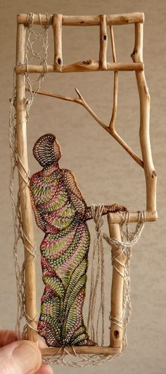 Ágnes Herczeg needle lace artist, her embroidery is exquisite as well.