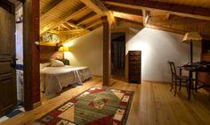 habitación familiar de la antigua casa de caseros en Palacio de Libardón.
