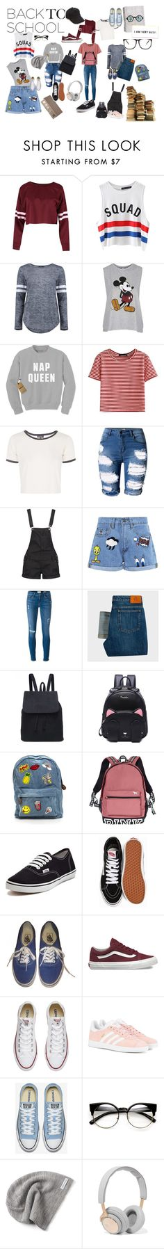 Back To School by vas0an on Polyvore featuring Topshop, WithChic, Boohoo, Chicnova Fashion, Paul Smith, Frame Denim, Paul & Joe Sister, adidas Originals, Vans and Converse