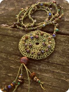 beads crochet necklace