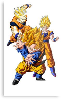 'Dragon Ball Z' by InsaneSuperSand Canvas Prints, Anime, Fictional Characters, Goku, Shirt, Ipad, Cases, Metal, Dragonball Z