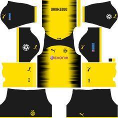 Dream League Soccer Kits Dortmund Kit Logo 512x512 Url 2017 2018 Soccer Kits Dortmund Soccer