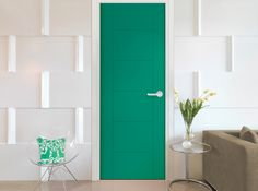 Masonite Hamel from West End Collection  6-panel door in Emerald, Pantone's 2013 color of the year. Great color pop! Two more door styles in collection