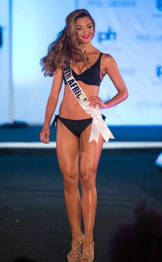 Winner of Miss Universe Miss South Africa from Miss Universe 2017 Swimsuit Competition -Demi-Leigh Nel-Peters Miss Universe Swimsuit, Pageant Tips, Beauty Pageant, Pageant Swimwear, Demi Leigh Nel Peters, Olivia Culpo, Beach Wear, Beach Girls, Bikini Models