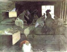 7) Går till hönsen, där tuppen står stolt på sin högsta pinne. Pagan Witch, Wiccan, Magick, Christmas Art, Xmas, Winter Wonder, Fairy Art, Watercolor Paintings, Watercolour