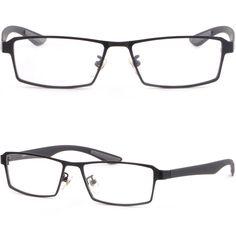Black Light Mens Titanium Frames Plastic Arm Prescription Eye Glasses Sunglasses