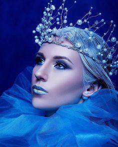 Fairy Makeup, Mermaid Makeup, Fantasy Hair, Fantasy Makeup, Snow Queen, Winter Fairy Costume, Show Makeup, Makeup Art, Ice Queen Costume