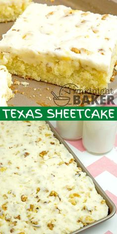 Sweets Recipes, No Bake Desserts, Easy Desserts, Baking Recipes, Delicious Desserts, Yummy Food, Sheet Cake Recipes, Sheet Cakes, Cupcake Cakes