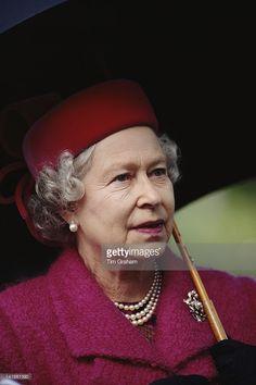 Queen Elizabeth II visits Emmanuel College, Cambridge, 19th April 1995.