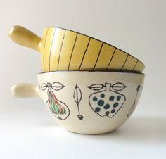 Vintage Mid Century Soup or Snack Bowls Milton Head. £32.00, via Etsy.