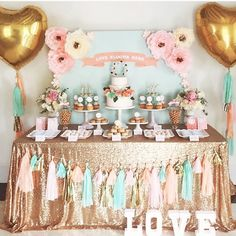 What a lovely dessert table by @redcarousel our gold sequins has a fabulous new home!