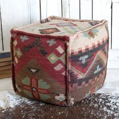 Western Jewel Ottoman-pairs beautifully with the Western Jewel Rug sold on Rods.com