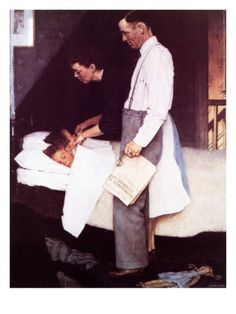 """""""Freedom From Fear"""", March 13,1943 Giclee Print by Norman Rockwell at Art.com"""