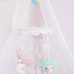 Nathalie Eriksen added a photo of their purchase Mobiles En Crochet, Crochet Mobile, Cute Baby Elephant, Cute Baby Bunnies, Handgemachtes Baby, Baby Crib, Crochet Hedgehog, Baby Teddy Bear, Baby Boy Knitting Patterns
