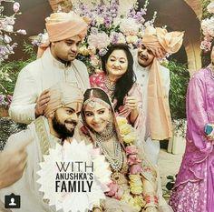 With Anushka's family