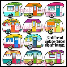 vintage camper clip art retro camper clipart camper pinterest rh pinterest com rv clipart free downloads free rv clipart images
