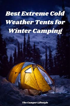 Winter Tent Camping, Best Tents For Camping, Cool Tents, Camping Tips, Outdoor Camping, Cold Weather Tents, 4 Season Tent, Camping For Beginners, Tent Reviews