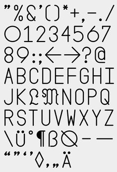 Nice Type Design. Grotesk.