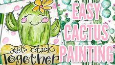 DIY Watercolor Cactus & Hand Lettering | P'zazz Art Studio Art Activities For Kids, Art For Kids, Hand Lettering Tutorial, Watercolor Cactus, Free Coloring Pages, Cool Art, Fun Art, Art Lessons, Art Projects