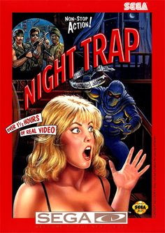 Night Trap Sega CD box art