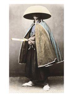 Vintage photo of samurai.