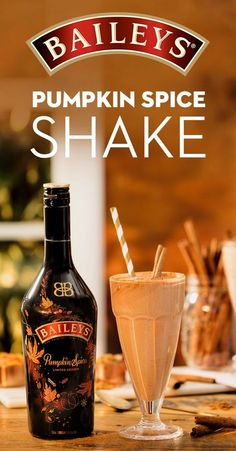 Who says you can't shake things up in the fall? Satisfy your pumpkin spice cravings with a bottle of Baileys and this delicious milkshake recipe. To make, blend 4 oz. Cocktails, Cocktail Drinks, Alcoholic Drinks, Beverages, Drinks Alcohol, Alcohol Recipes, Fall Drinks, Holiday Drinks, Party Drinks