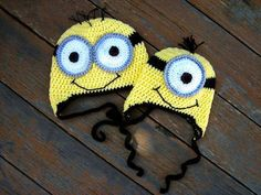 Minion Crochet Hat EASY all sizes - Pattern on Craftsy!   LISA LAWRENCE, can you follow a crochet pattern? I feel like your Daddy probably needs one of these :) lol