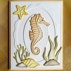 GJCrafts Seahorse Dies Metal Cutting Dies Mew 2019 for Scrapbooking Card Making Album Embossing Paper Stencil Craft Animal Dies Nautical Cards, Beach Cards, Elizabeth Craft Designs, Marianne Design, Masculine Cards, Kids Cards, Creative Cards, Design Crafts, Homemade Cards
