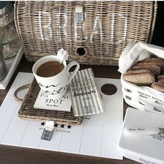 Love this image from Scandi Style, Spots, But First Coffee, Sweet Home, Shabby, Basket, Tableware, Inspiration, Mood Boards