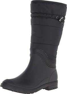 Kamik Women's Newcastle Insulated Rain Boot, Black, 7 M US *** Read more reviews of the product by visiting the link on the image.