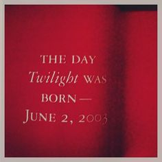 On this day 10 years ago Twilight was born. Thank you to Stephenie for sharing your dream with us.