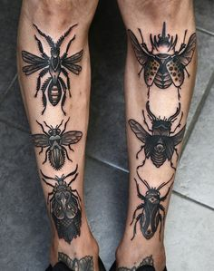 bugs by barbe rousse at AKA berlin #ink #tattoo