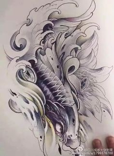 Koi Dragon Tattoo, Carp Tattoo, Sak Yant Tattoo, Koi Fish Tattoo, Irezumi Tattoos, Skull Tattoos, Sleeve Tattoos, Koi Tattoo Design, Western Tattoos