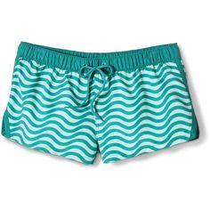 Women's Limited Edition Mossimo Supply Co. Swim Board Shorts -Aqua featuring polyvore women's fashion clothing swimwear swim wear bikini bottom swimwear swim bikini bottoms aqua beachwear aqua swimwear