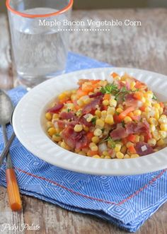 Maple Bacon Vegetable Corn Recipe - Picky Palate