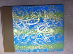 """8x11"""" Blank Artist book lays flat when opened. Made by Roxanne"""